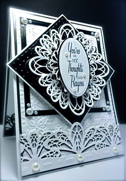Cards by America: Black and White Cards using Sue Wilson's fabulous ...