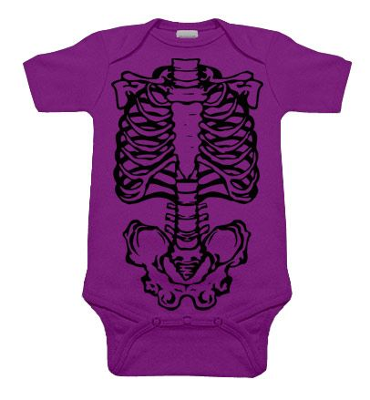 Skeleton Purple & Black One Piece