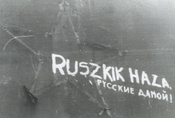 Kálvin tér | 'Russki Go Home!' #revolution #1956 #hungary #houseofterror #communism #russia #gohome #graffiti