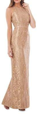 JS Collections Metallic Embroidered Gown  #gowns #dress #prom #promdress #prettygirl #eveningdresses #eveninggowns #ad