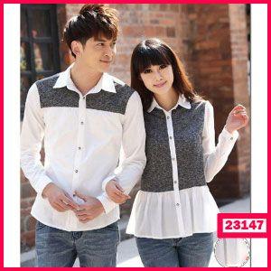 Kemeja Couple Autumn Grey - Butik Pakaian