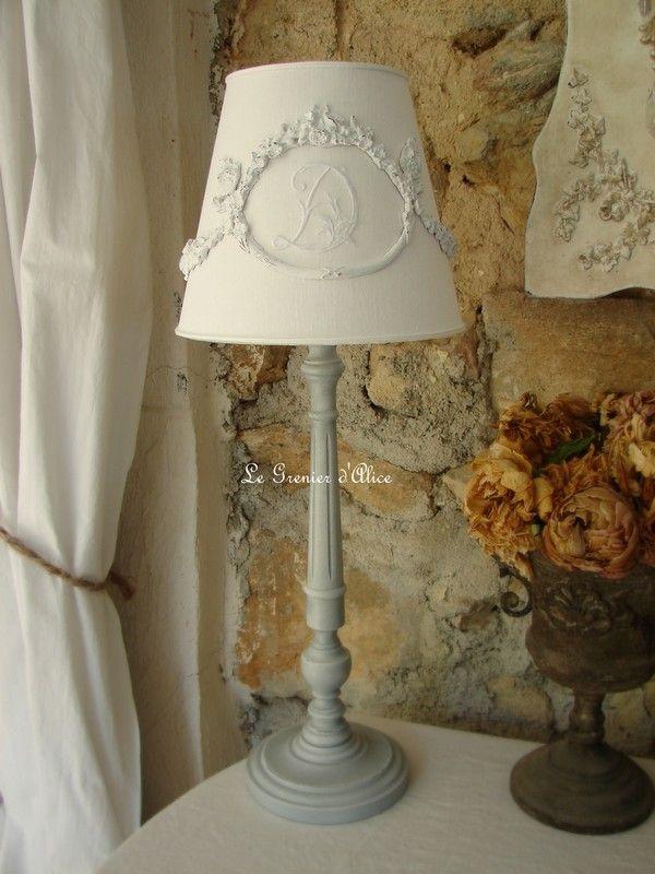les abat jour romantiques et shabby chic romantic and shabby lampshades le grenier d 39 alice. Black Bedroom Furniture Sets. Home Design Ideas