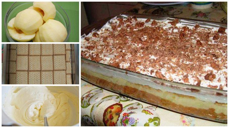 Valami ínycsiklandó almás finomságra vágysz, de nincs kedved sütni? Akkor próbáld ki ezt a különleges finomságot! Hozzávalók a kekszes részhez: 2 evőkanál margarin, 200-300 g háztartási keksz, 1 kg alma. Hozzávalók a krémhez: 2 db tojás sárgája, 5 evőkanál cukor, 5 evőkanál liszt, 1/2 liter tej, 15 dkg margarin, vaníliás[...]