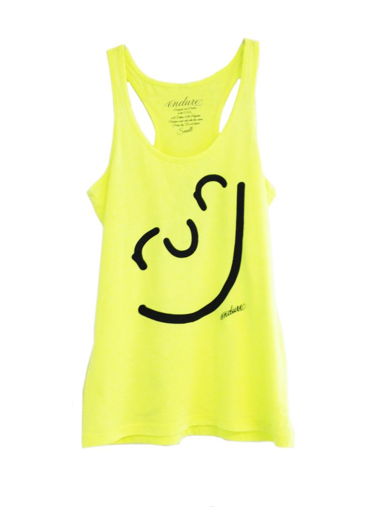 Endure Tanks: Run Happy Face Tank: Running Apparel #EndureJewelry #Motivation #Smile
