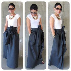 Fashion, Lifestyle, and DIY: DIY Maxi Skirt.....AGAIN
