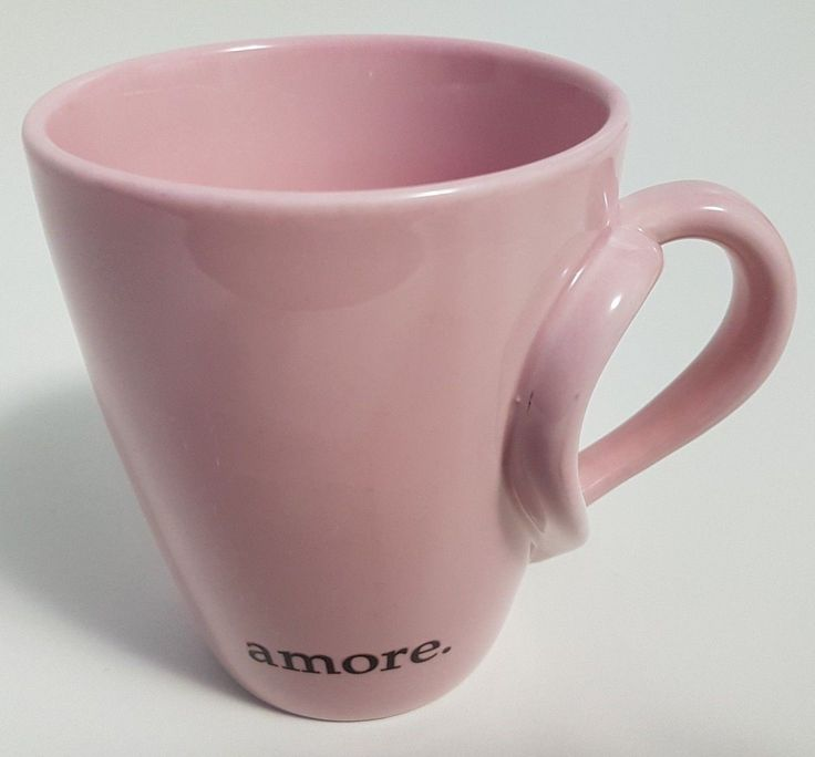 Starbucks Amore Coffee Mug Cup Pink Love Heart Shaped Handle 2003 | eBay for Valentine's Day or whenever. #starbucks #valentinesday