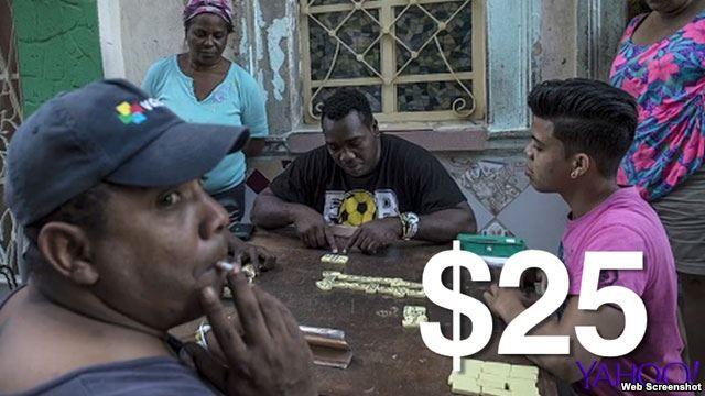 Nation Master muestra la lista de salarios promedios mensuales de la población mundial, colocando a Cuba en último lugar, el 176.