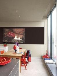Franjas pintadas en paredes