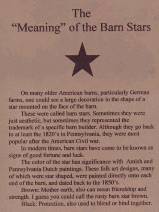 The meaning of the barn star!