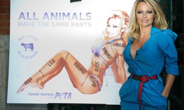 Pamela Anderson at PETA