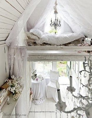 Sleeping loft in tiny victorian cottage in the Catskills.  I remember reading about this place in the NY Times and fell in love with it!