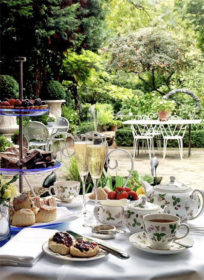 Have high tea in the secret garden at Number Sixteen in London.