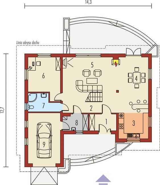 Casa 10 en el primer piso del plano de esta vivienda se for Plano oficina