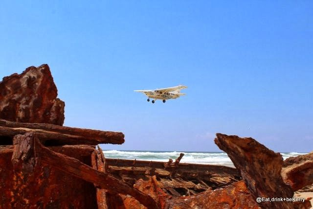 Tea time at Fraser Island's International Airport