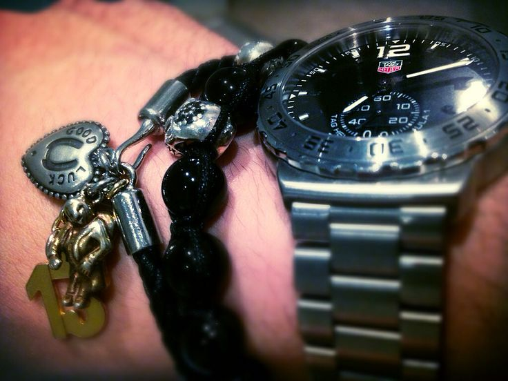 #dolcegabbana and #jai-dam #bracelet with a reliable #TAGHeuer #watch  #menswear #accessories