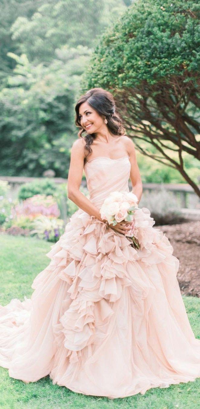 Blush Pink Wedding Dresses Country Weding Dresses Ball Gown Wedding Dress Rustic Wedding Dress Ruffle Wedding Dress Pink Wedding Dresses Wedding Dresses Blush [ 1350 x 662 Pixel ]