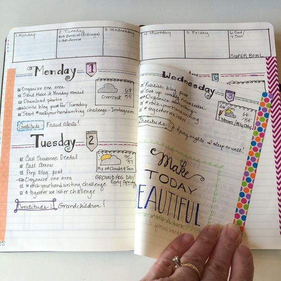 Showing you how to use the 'Dutch door' system in your bullet journal as well…