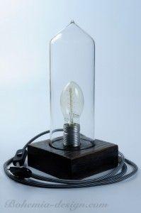 Lampička stolní, skleněný kryt