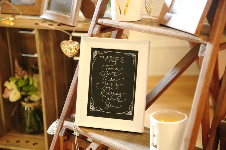 photo frame wedding table plan