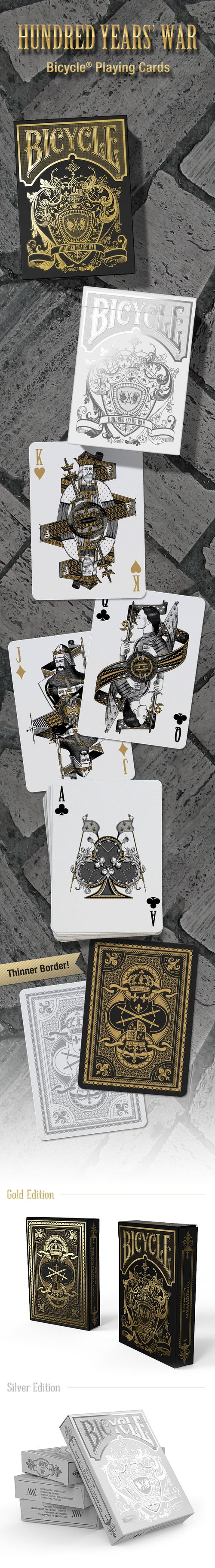 Bicycle Hundred Years' War Playing Cards