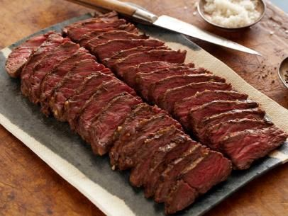 Red Wine-Rosemary Grilled Flank Steak Recipe | Bobby Flay | Food Network