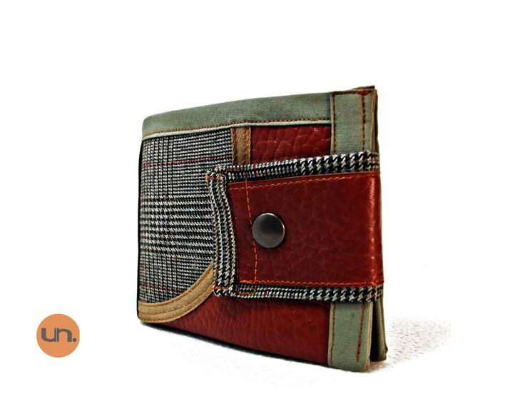 Vegan Wallet, Smart Wallet, Bifold Wallet for Men Women with Card Holder, Coin Pocket  UNUSUAL - Handmade Custom Order - pinned by pin4etsy.com