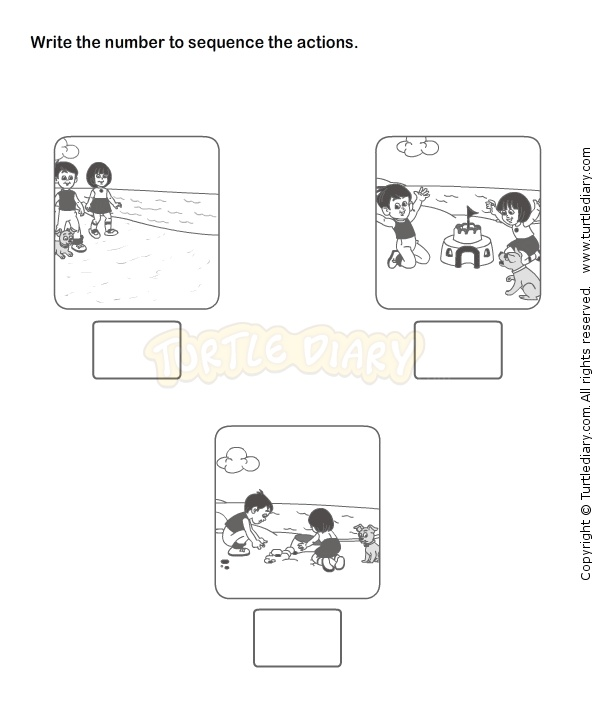 Sequence Worksheets Kindergarten Davezan – Kindergarten Sequence Worksheets