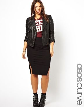 ASOS CURVE Exclusive Pencil Skirt with Side Splits