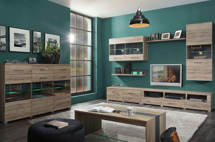Moderne robuuste woonkamer inclusief LED verlichting!