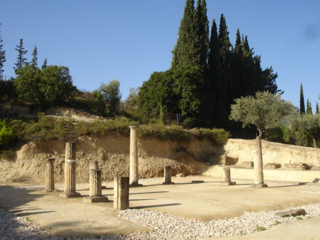 The ruins from the temple of Zeus in ancient Nemea.