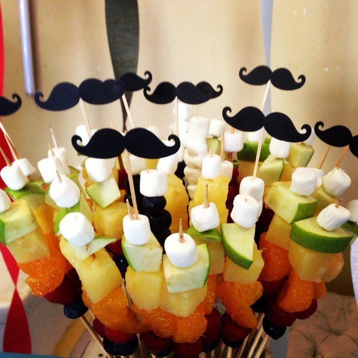 #madplatter kitchen fruit skewers mustache birthday party