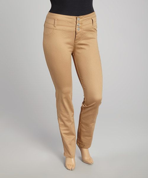VIP Jeans Khaki High-Waist Pants - Women & Plus | Zulily ...