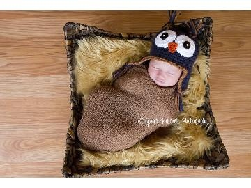 Baby Owl Hat Lil Hoot Dark Blue Newborn to 4 yr old size Perfect Photography Prop by LittleTurtleHatShop  http://bizspeaking.com/
