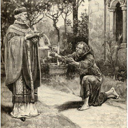 Pope Innocent Iii C11601 1216 And Saint Francis Of Assisi C 1181-1226 Canvas Art - Ken Welsh Design Pics (24 x 24)