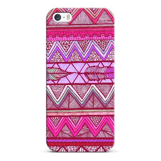 Two Feathers Two by Lisa Argyropoulos -Custom Cases | iPhone 5S | iPhone 5C | iPhone 4S | iPad | iPod Touch | Samsung Galaxy | Casetagram - #case #cover #smartphone #iPhone #tribal #chevron #aztec #pink #purple