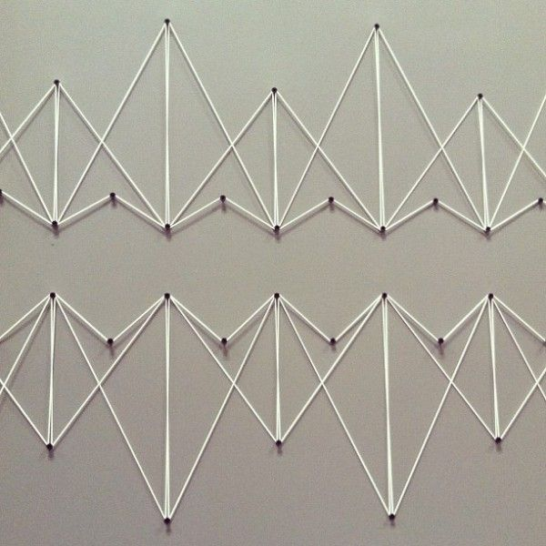 Love the geometric. ideas for adding onto it with block of color in background that mimic the shapes