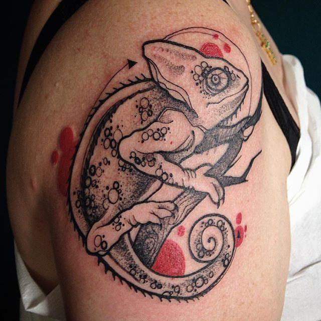 Chameleon Small Tattoo: 15 Endearing Chameleon Tattoos