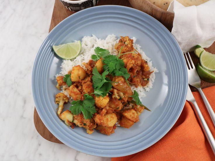 Aloo gobi - indisk gryta med blomkål och potatis | Recept från Köket.se