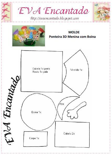 MOLDES DE E.V.A: MOLDE DE PONTEIRAS.
