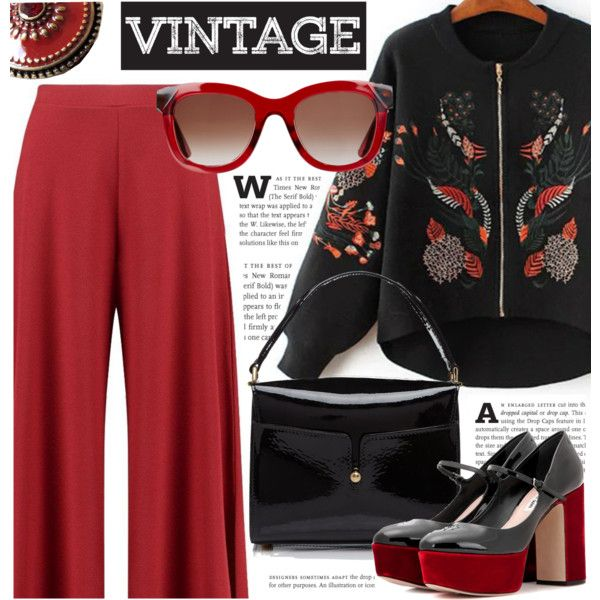 Vintage by cilita-d on Polyvore featuring polyvore, fashion, style, Boohoo, Miu Miu, Marc Jacobs, Sara Attali, Thierry Lasry, vintage and clothing