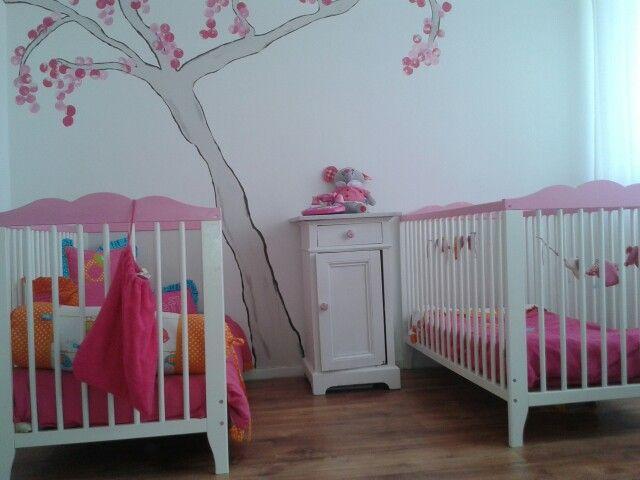 Foto genomen op de slaapkamer van onze dochtertjes van 1,5 en 3 jaar oud