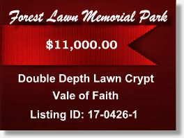 Featured Cemetery Listing - Forest Lawn Memorial Park - Glendale, CA - 17-0426-1