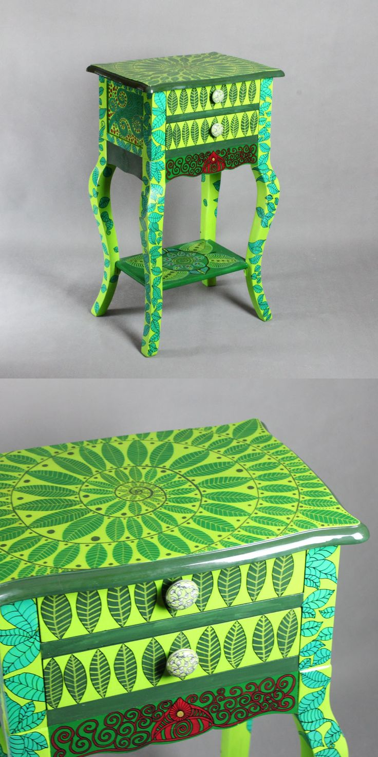 Hand-painted chest of drawers Spring Dew