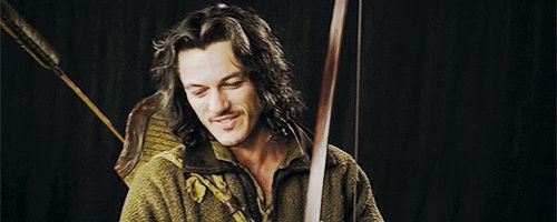 I'm dying!!! HE'S SO PRETTY! ♡♡The Hobbit behind the scenes BTS - Luke Evans as Bard the Bowman