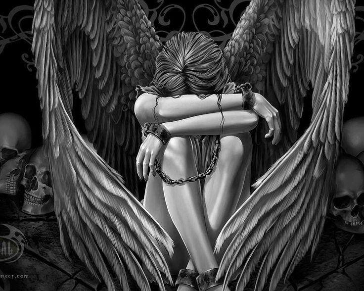 Sad Angel To Sketch Pinterest