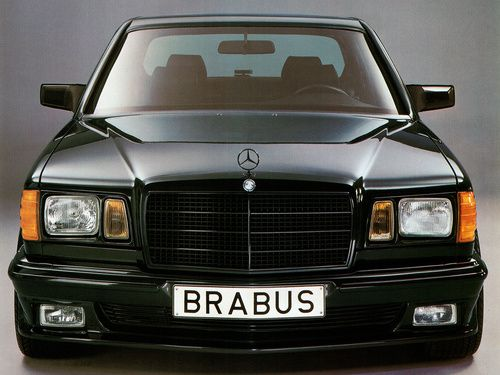 Brabus Mercedes S Class / W126. Wow, the black grille is incredible.
