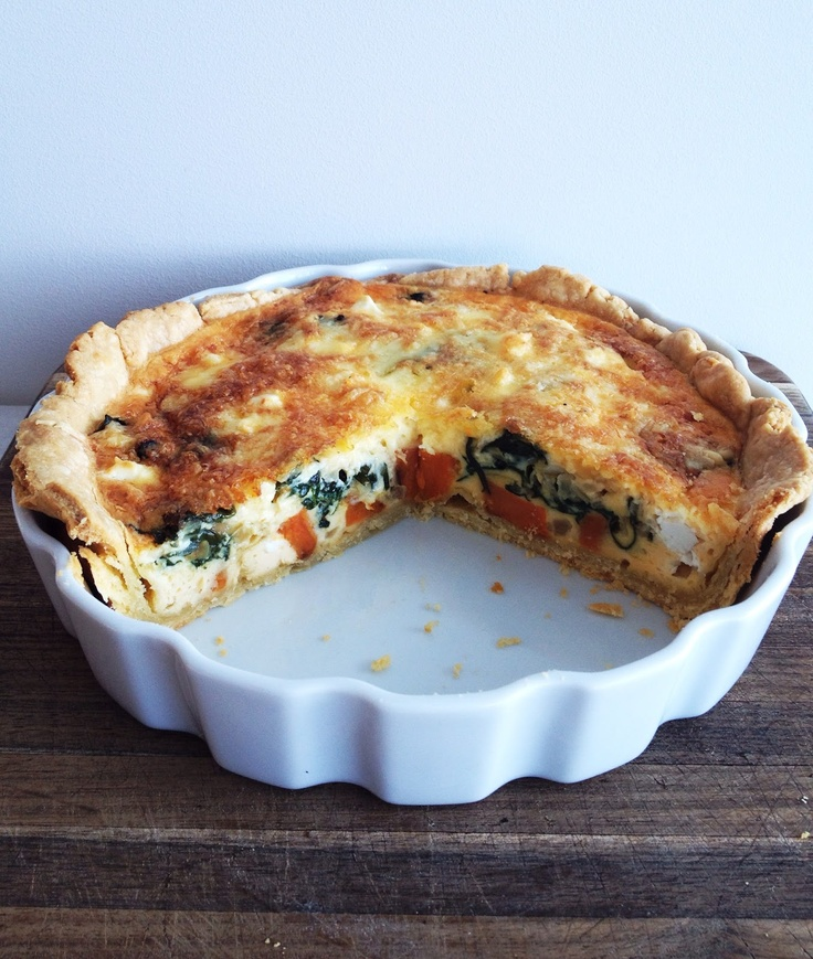 what caroline cooked: Pumpkin, Spinach and Feta Quiche