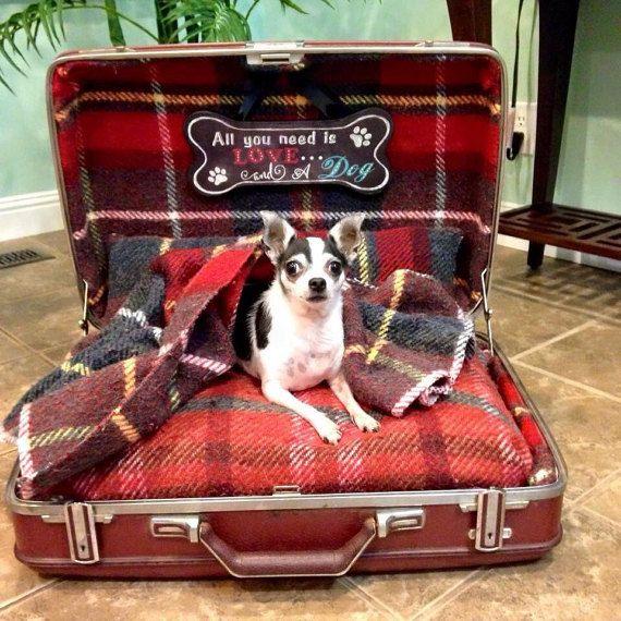 Suitcase Dog Bed Etsy
