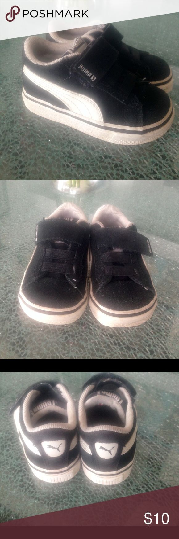 PUMA toddler size 5 Only worn a few times.  Velcro, easy to get on.  Toddler size 5.  Price is firm. Puma Shoes Sneakers
