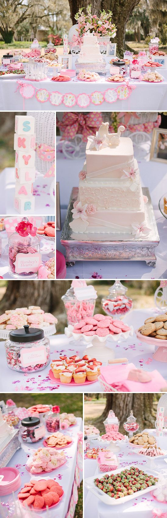 Beautiful Southern Baby Shower in Pink - this is what I want my baby shower to be exactly like